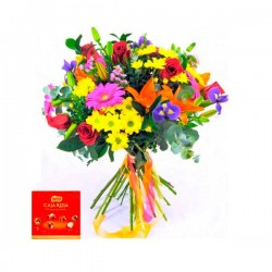 Bouquet Corazon + Nestle 100grs